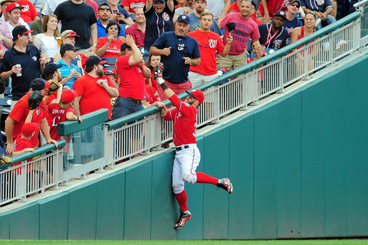 The Nationals Walk Off Win In Gifs Bryce Harper Staring