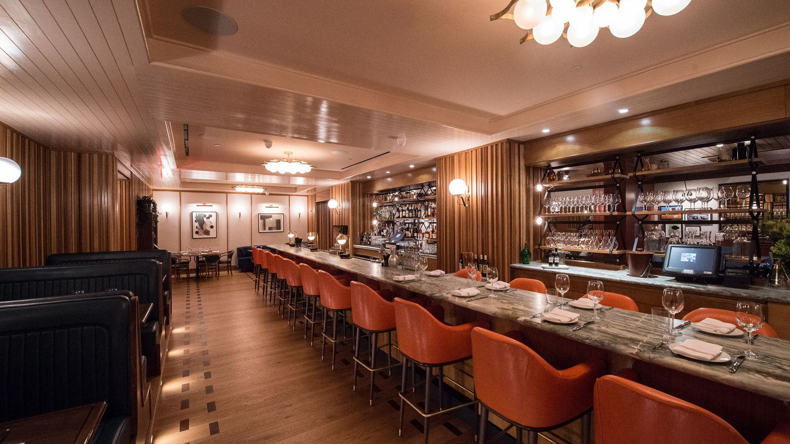 Coastal italian fare meets a retro private club vibe at for Best private dining rooms twin cities