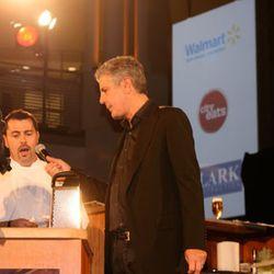Anthony Bourdain asking Haidar Karoum to explain his dish.