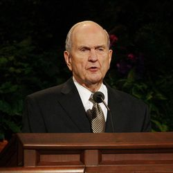 Elder Russell Nelson speaks during the 182nd Annual General Conference for The Church of Jesus Christ of Latter-day Saints in Salt Lake City  Sunday, April 1, 2012.