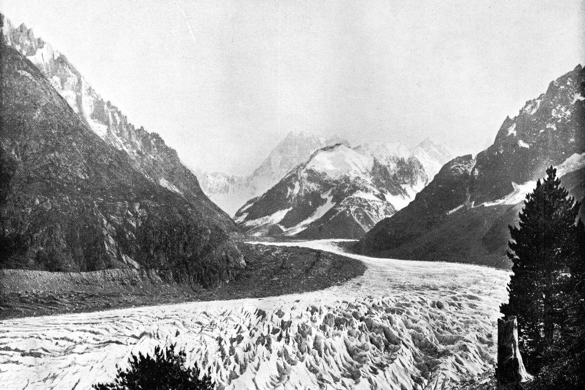 The Mer De Glace, Switzerland, 1893.Artist: John L Stoddard