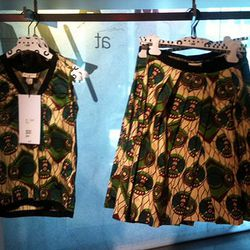 The top was only left in size 4 and 6, but there were more sizes for the skirt.