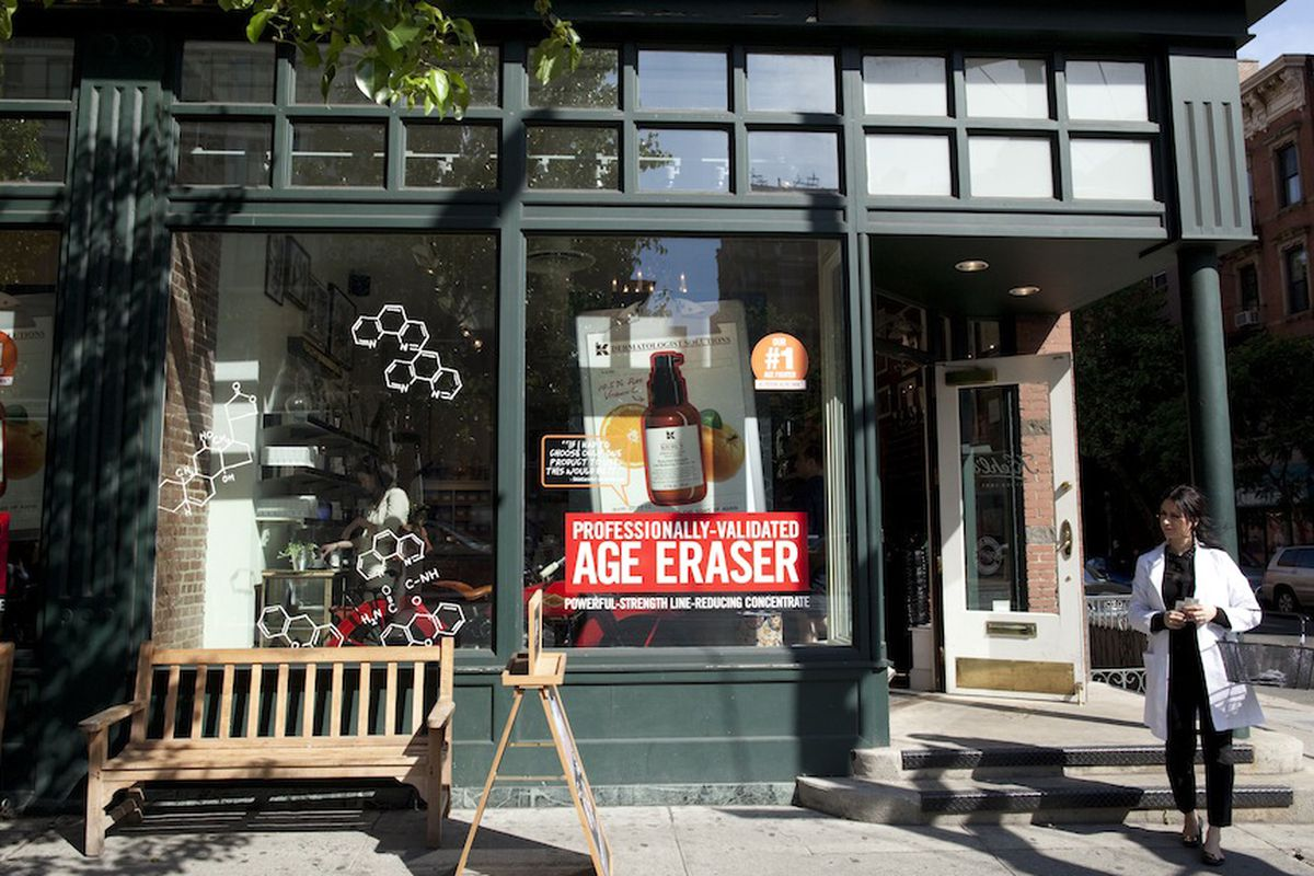 Outside Kiehl's in the East Village. Photo by Brian Harkin.