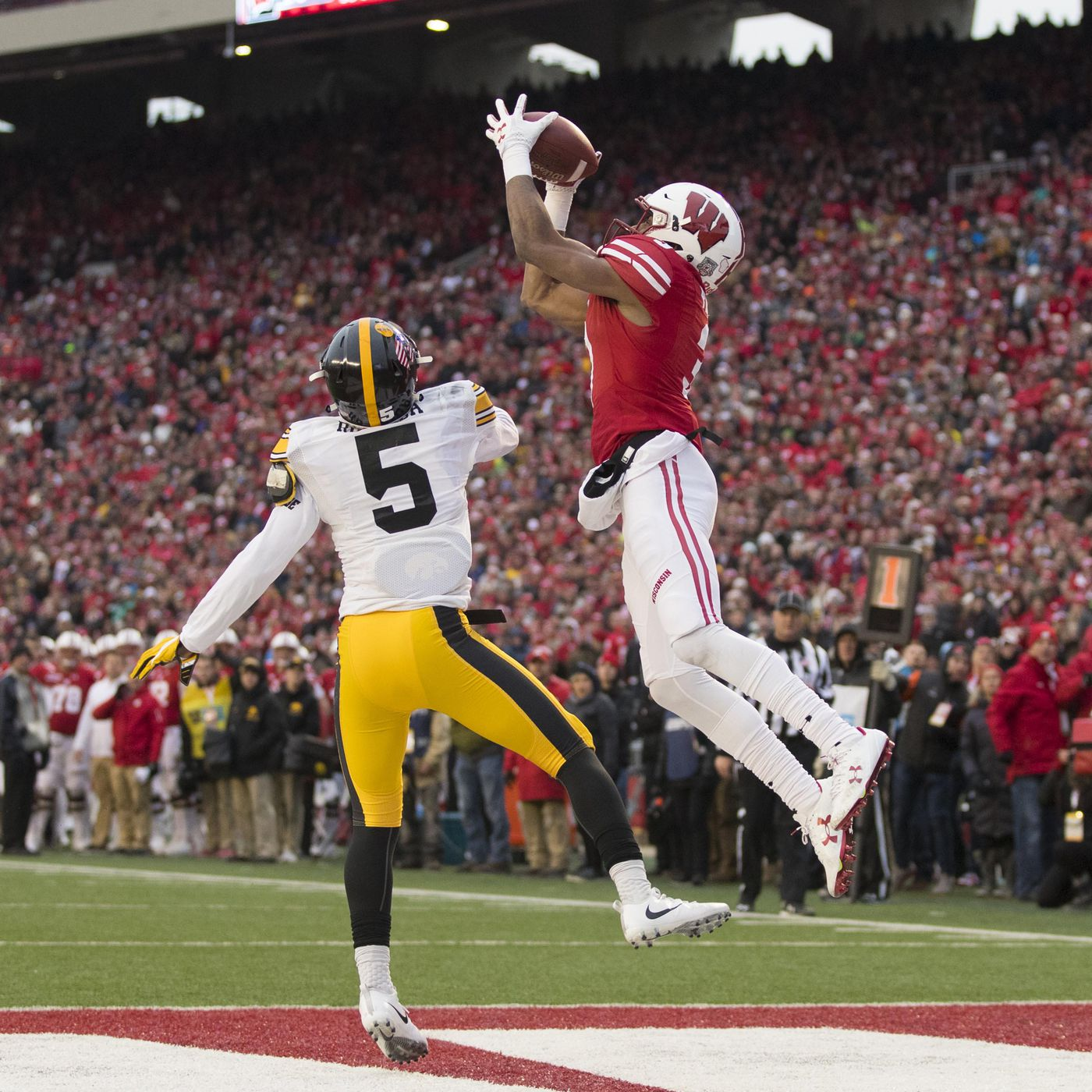 Wisconsin 38 Iowa 14 Back to reality Black Heart Gold Pants