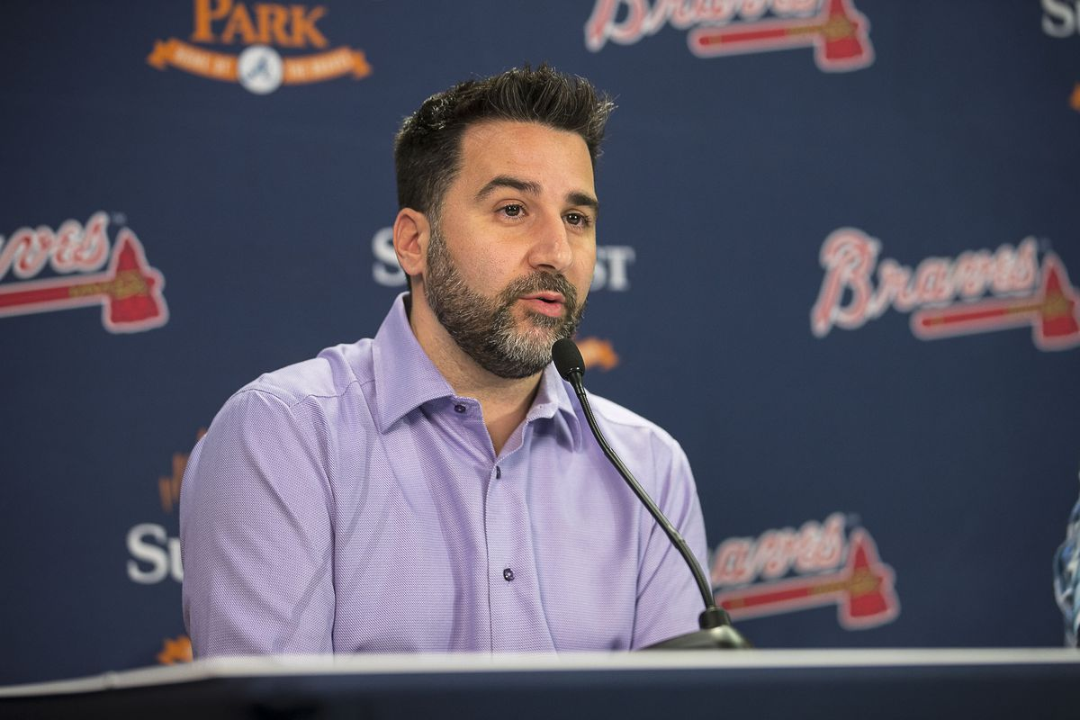 The MLB players' association is looking into comments by Atlanta Braves general manager Alex Anthopoulos implying that he discussed free agents with other teams. That would be a violation of the labor agreement. Anthopoulos later clarified his comments.
