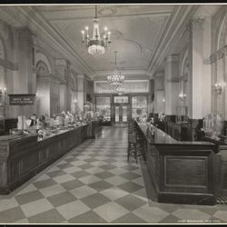 """Scrafft's Candy counter (looks like Eataly, no?), 2285 Broadway, 1930 by Byron Company. From the Collections of the Museum of the City of New York. [<a href=""""http://collections.mcny.org/MCNY/C.aspx?VP3=ViewBox&IT=ZoomImageTemplate01_VForm&IID=2F3X"""