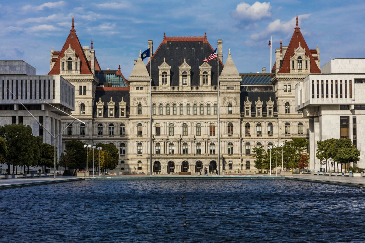 Albany, New York State Capitol and government buildings.