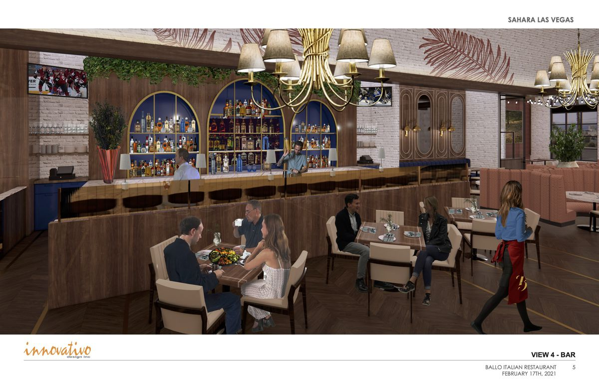 A rendering of the lounge at Ballo