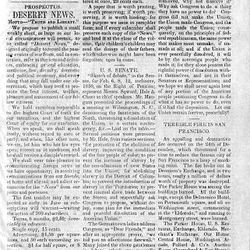 This was the first issue of the Deseret News, printed June 15, 1850.