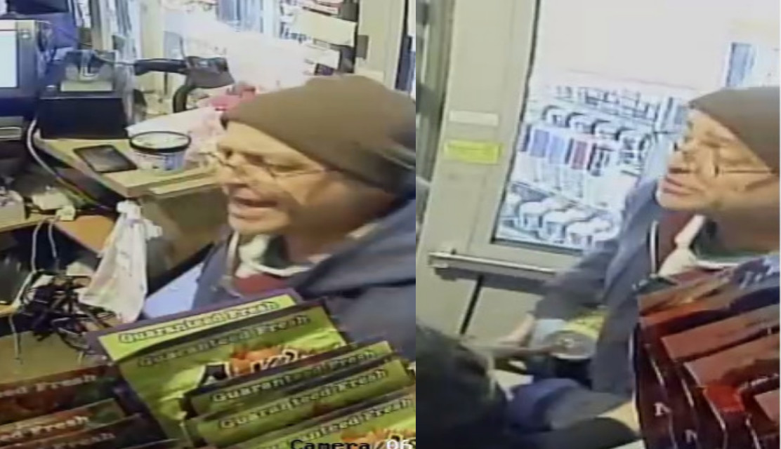 Surveillance footage of the suspect in a gas station robbery in the 4400 block of North Central Avenue.   Chicago police