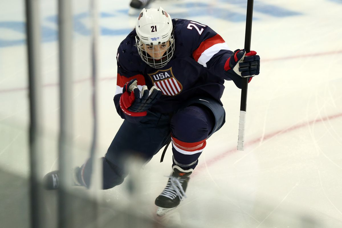 Hilary Knight will get an opportunity to skate with the Anaheim Ducks