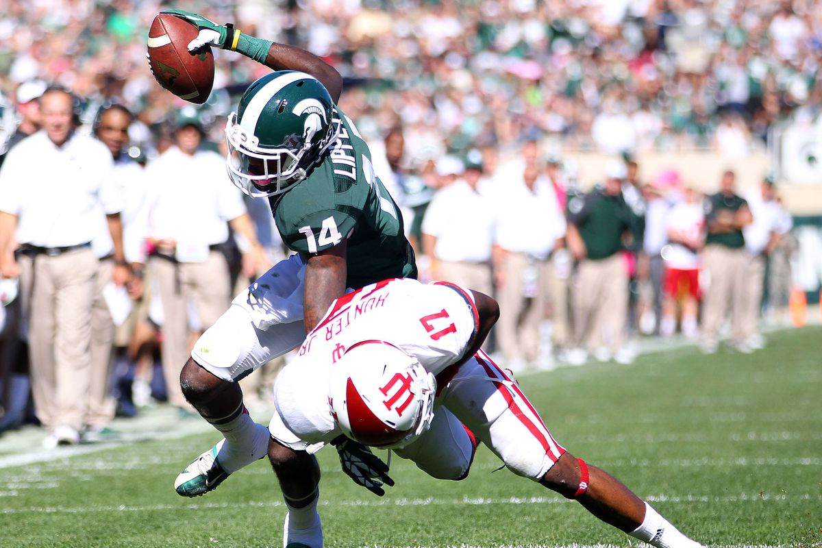 Tony Lippett was too much for Indiana