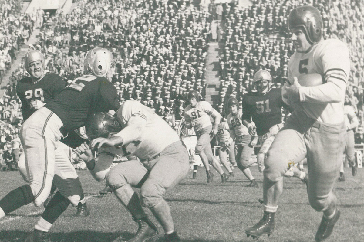 Game of the Year of the Day, 1943: Notre Dame 14, Iowa Pre-Flight 13