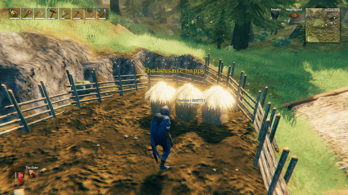 Valheim beehives produce honey for potions