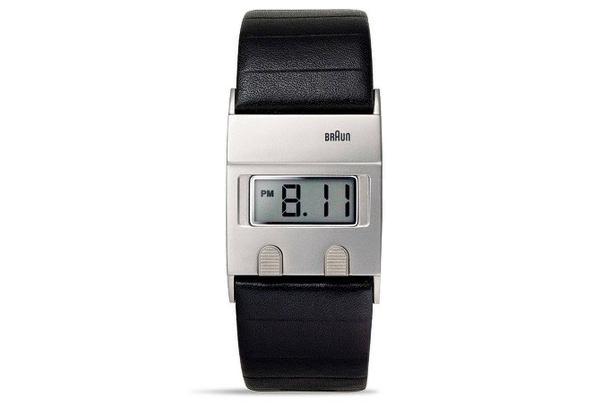 designer dieter rams 39 braun watch returns after 30 years the verge. Black Bedroom Furniture Sets. Home Design Ideas