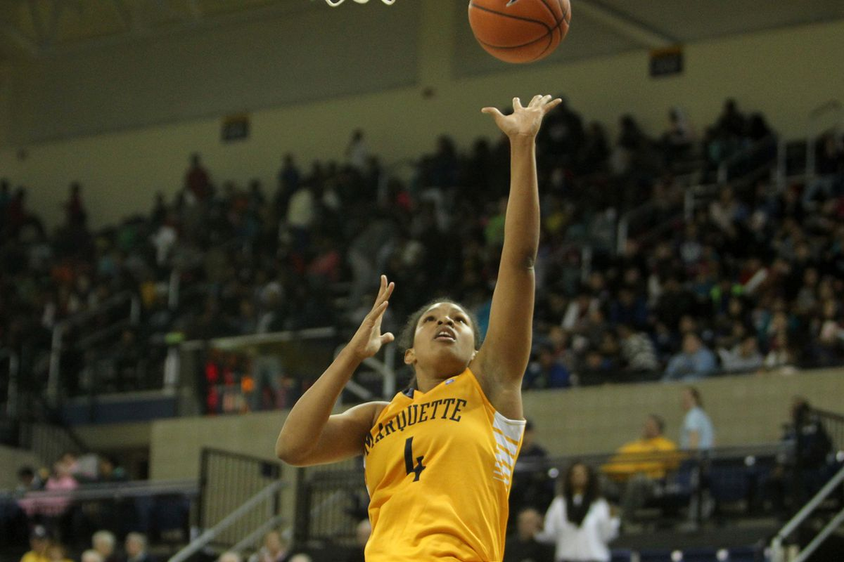 Arlesia Morse had a game high 25 points in Marquette's losing effort.