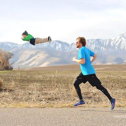 """Alan Lawrence, right, photographed his son William in a series titled """"Wil Can Fly"""" on his blog, <a href=""""http://thatdadblog.com/"""">thatdadblog.com</a>"""