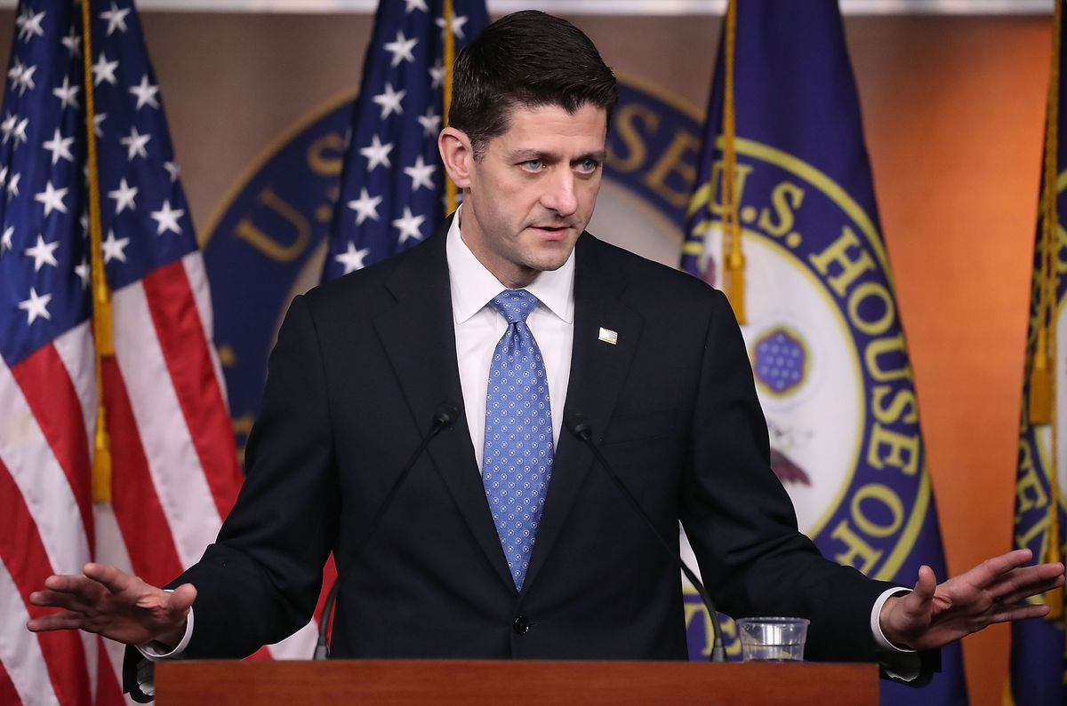 House Speaker Paul Ryan (R-WI) Meets With Leading Conservatives
