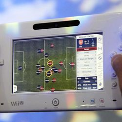 Nintendo's Wii U GamePad is unveiled, Thursday, Sept. 13, 2012 in New York. The gaming console will start at $300 and go on sale in the U.S. on Nov. 18, in time for the holidays, the company said Thursday.