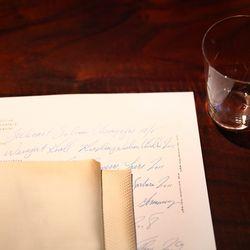 Hand-written menus.