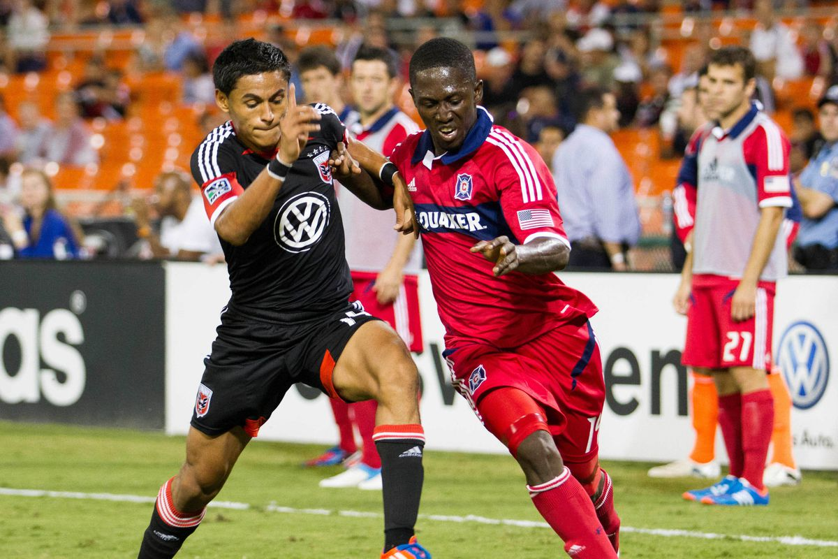 The Fire will need the Patrick Nyarko vs. Andy Najar battle to go their way to ensure a win against D.C. Saturday.