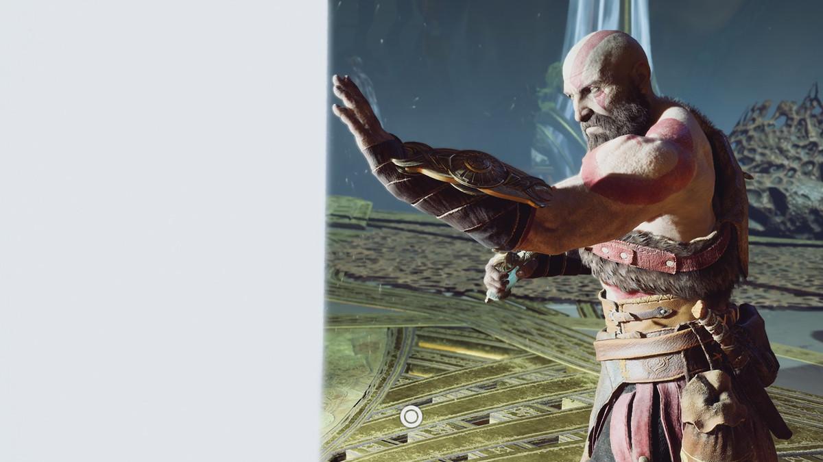 God of War - Kratos touches a wall of light