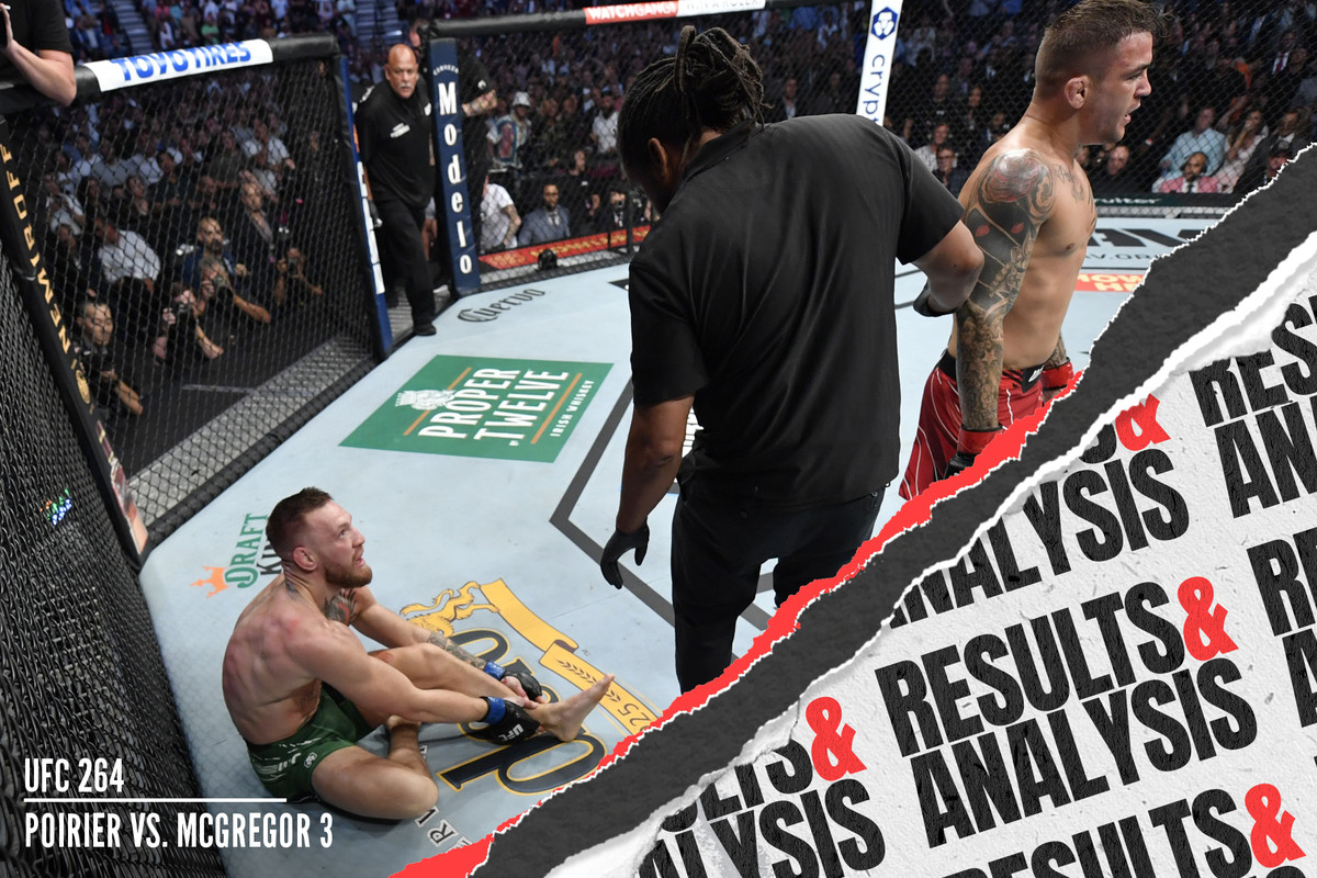Dustin Poirier defeated Conor McGregor in the UFC 264 main event.
