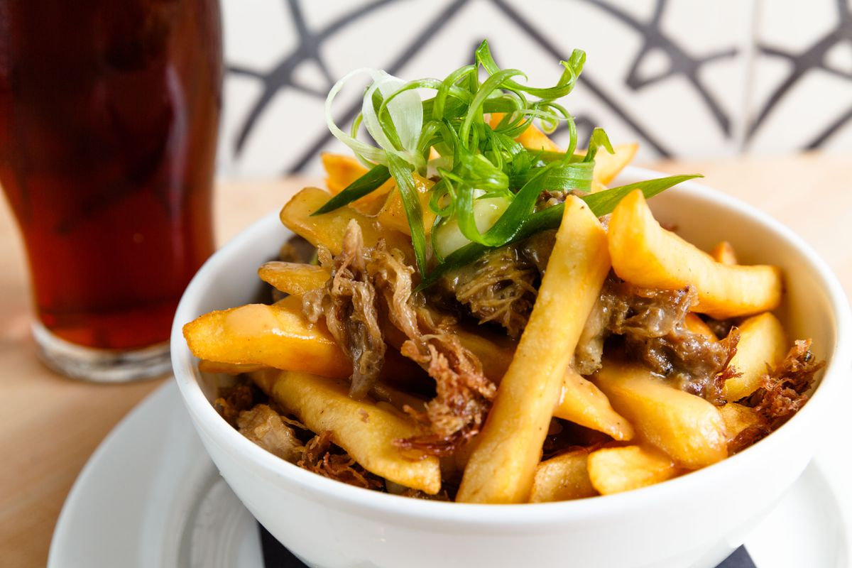 Duck poutine at Belcampo