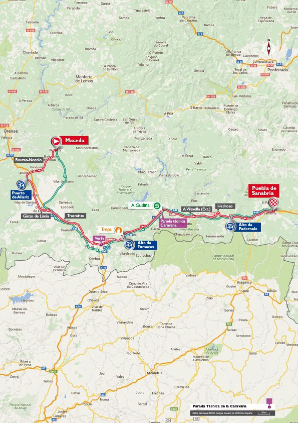 Stage 7 vuelta map