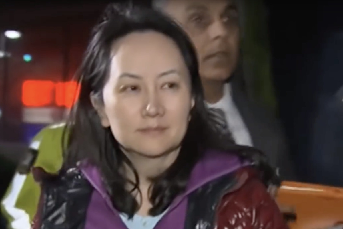 Meng Wanzhou, the chief financial officer of Chinese telecoms giant Huawei.