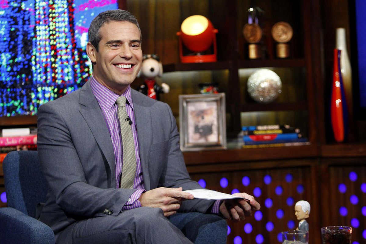 """FILE - In this Jan. 9, 2012 file photo originally released by Bravo, host Andy Cohen appears on Bravo's """"Watch What Happens Live"""" show in New York. Cohen will host a five-week run on SiriusXM satellite radio. The one-hour show kicks off Thursday, June 7"""