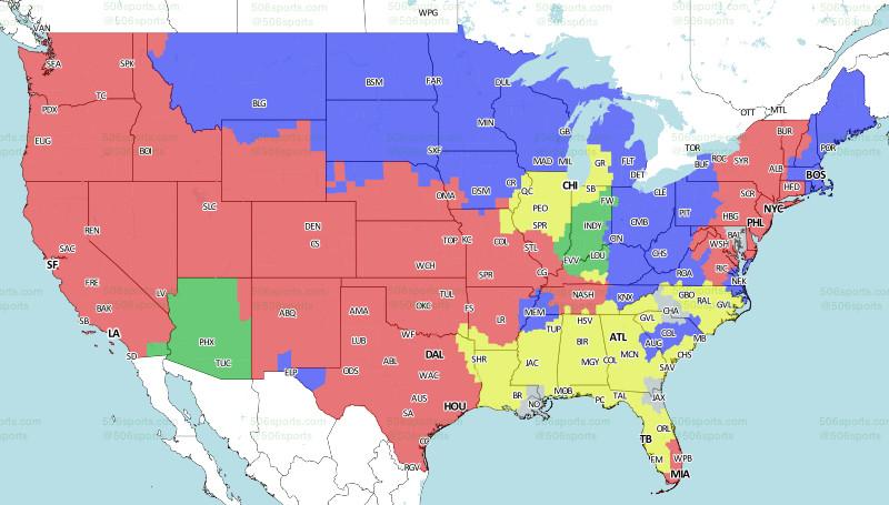 Eagles-Chiefs game TV coverage map - Bleeding Green Nation on map history, map sam houston state university, map nfl, map university of phoenix stadium,