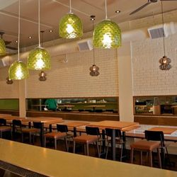 A similar green and white color palette to the Broderick location.
