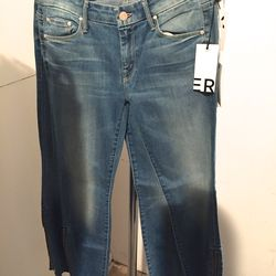 Mother frayed jeans, $59 (from $196)