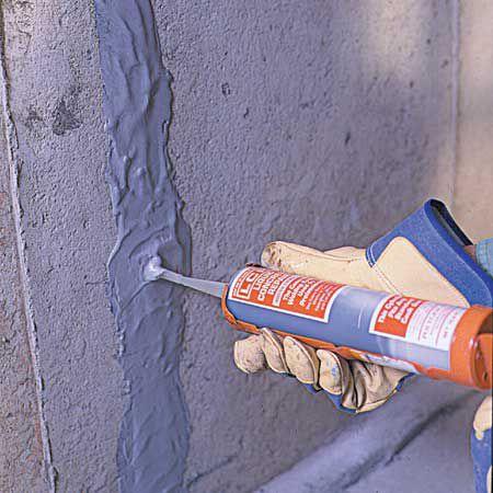 Injecting Epoxy Sealer Into Crack