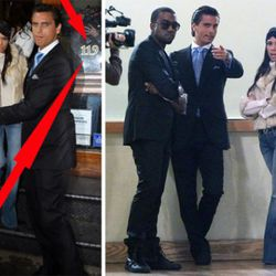 """L: Note the address. R: Kanye checks out the new space with Scott and Kourtney. Images via <a href=""""http://officialkourtneyk.celebuzz.com/2010/10/first-stop-in-nyc/"""" rel=""""nofollow"""">OfficialKourtneyK</a>"""