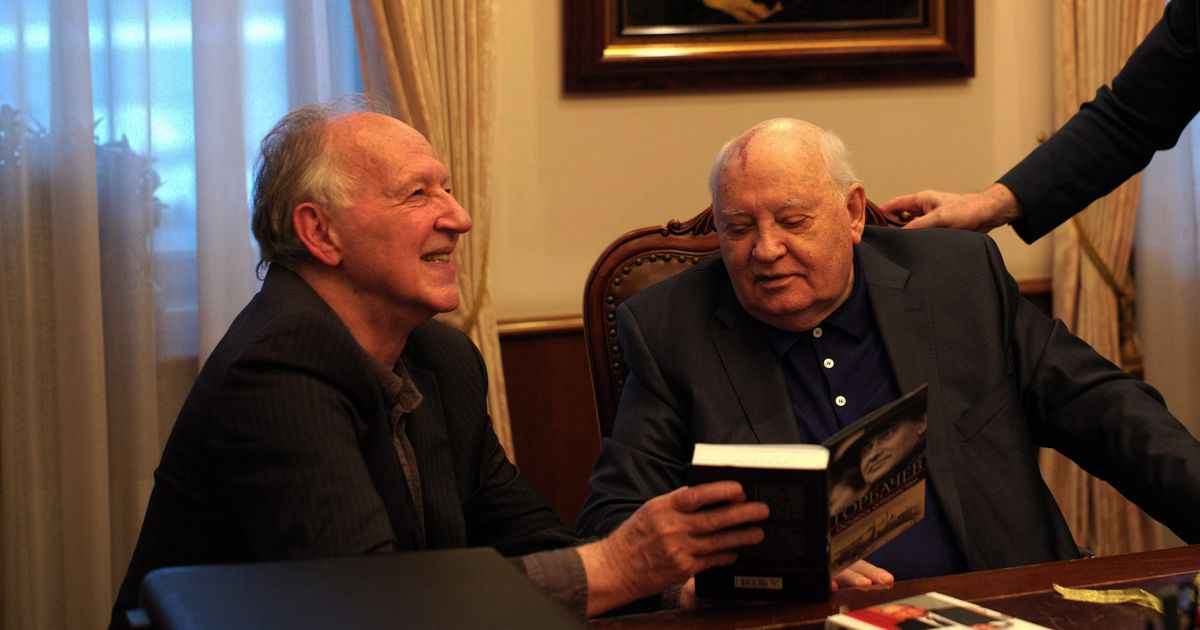 """Werner Herzog and Mikhail Gorbachev in """"Meeting Gorbachev."""" 