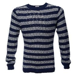 """<strong>GANT Rugger</strong> Striped Slubber Sweater in Blue, <a href=""""http://www.scoopnyc.com/the-striped-slubber-sweater.html"""">$148</a> at Scoop NYC"""