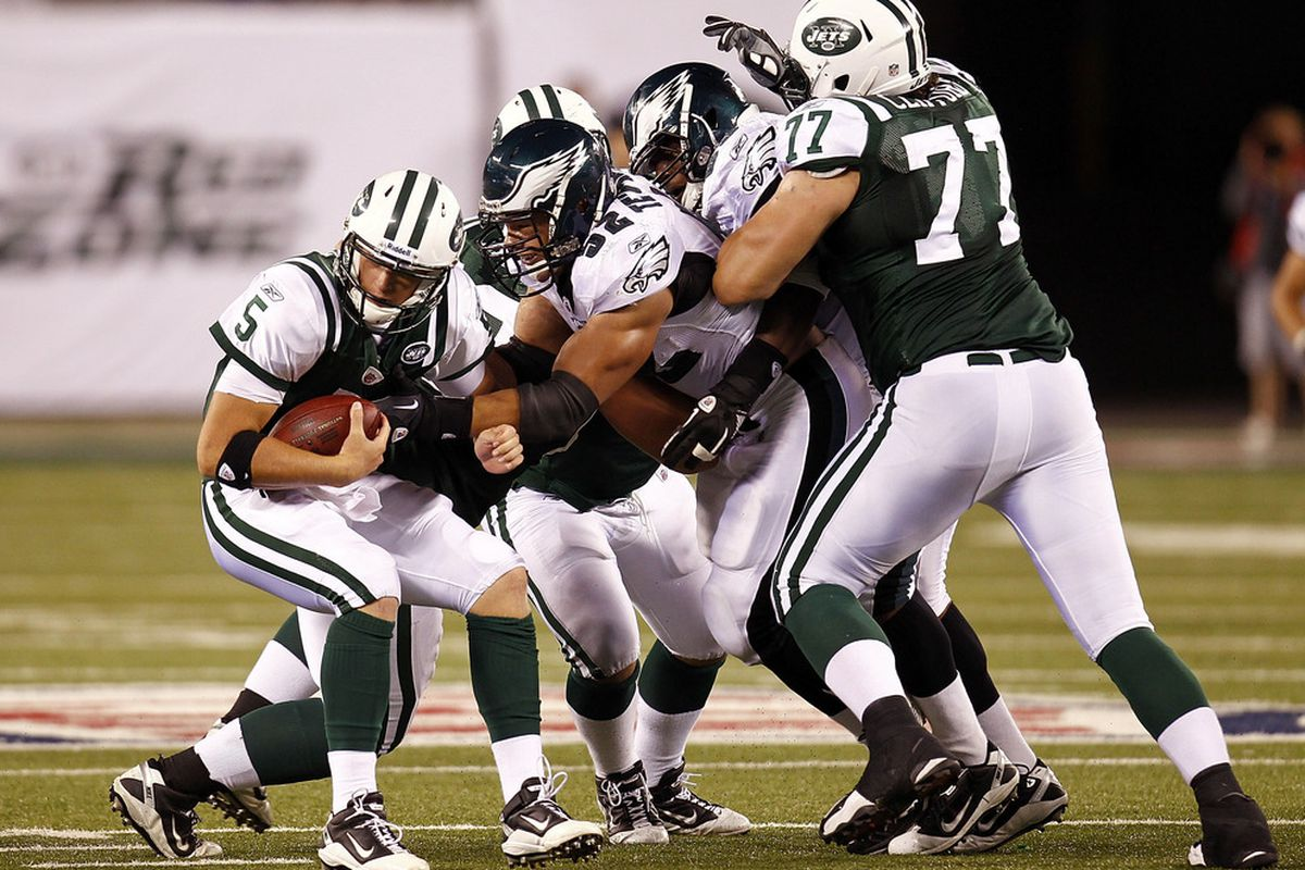 The Jets could use some better backups on the offensive line.