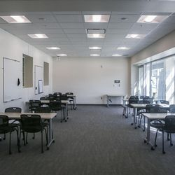 The workshop area of the Dumke Center for STEM Learning at Salt Lake Community College in Taylorsville is pictured on Wednesday, March 1, 2017. The dynamic, new and collaborative space is located in the college's Science and Industry Building. The center staff is committed to preparing students to reach their full potential by providing tutoring services and hands-on workshops designed to help build self-confidence, expand critical-thinking skills and become lifelong active learners.