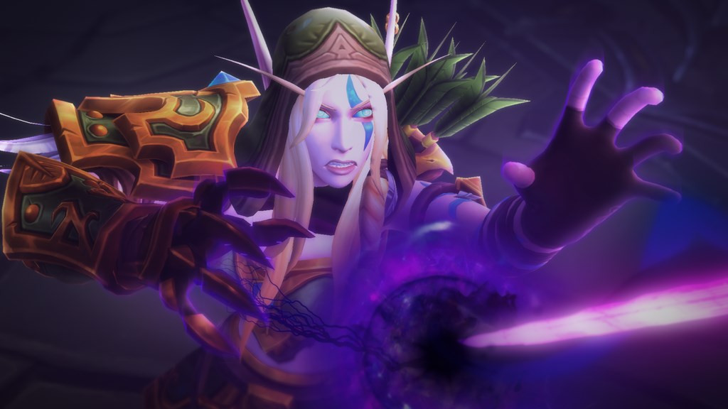 World of Warcraft - Alleria Windrunner controls potent void energy.