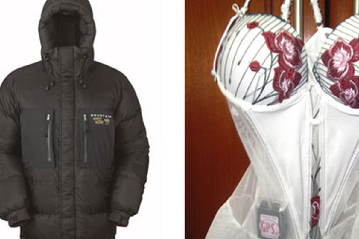 """Wear these two items at the same time, and you'll be one hot, high-tech mess. Images via <a href=""""http://www.campfans.net/wp-images/Mountain-Hardwear-Absolute-Zero-Parka.jpg"""">Camp Fans</a> and <a href=""""http://Popgadget"""">Popgadget</a>"""