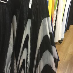 Black and white pleated maxi skirt, $279 (was $898)