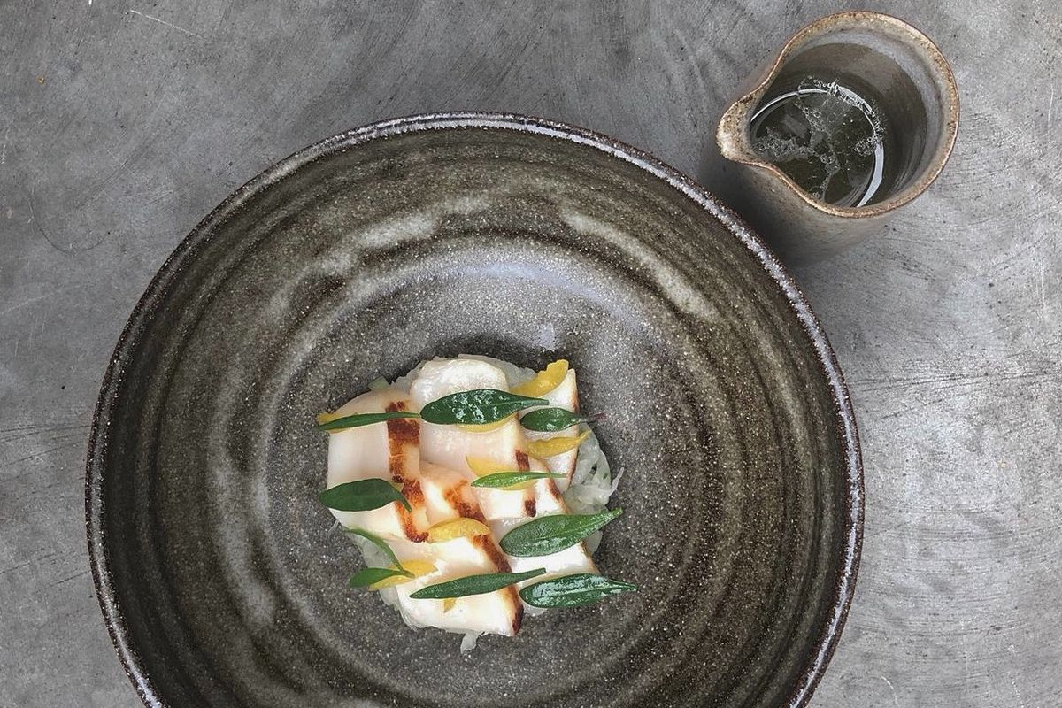 Scallops at kelp at Wilder, a new restaurant for Shoreditch at Boundary London