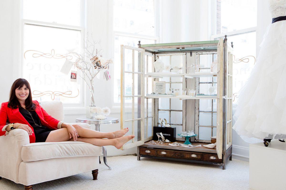 """Julie Jones of Encore Bridal, photo by <a href=""""http://aubriepick.com"""">Aubrie Pick</a>"""