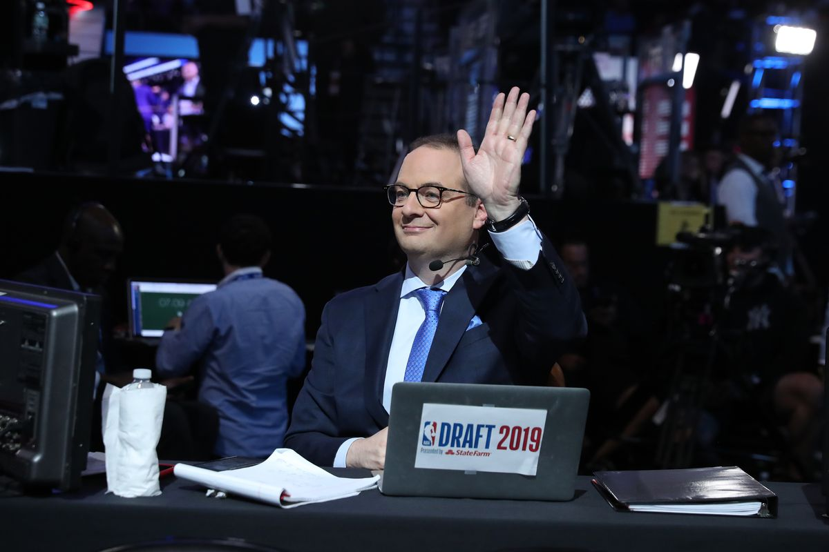 Reporter Adrian Wojnarowski attends the 2019 NBA Draft on June 20, 2019 at Barclays Center in Brooklyn, New York.
