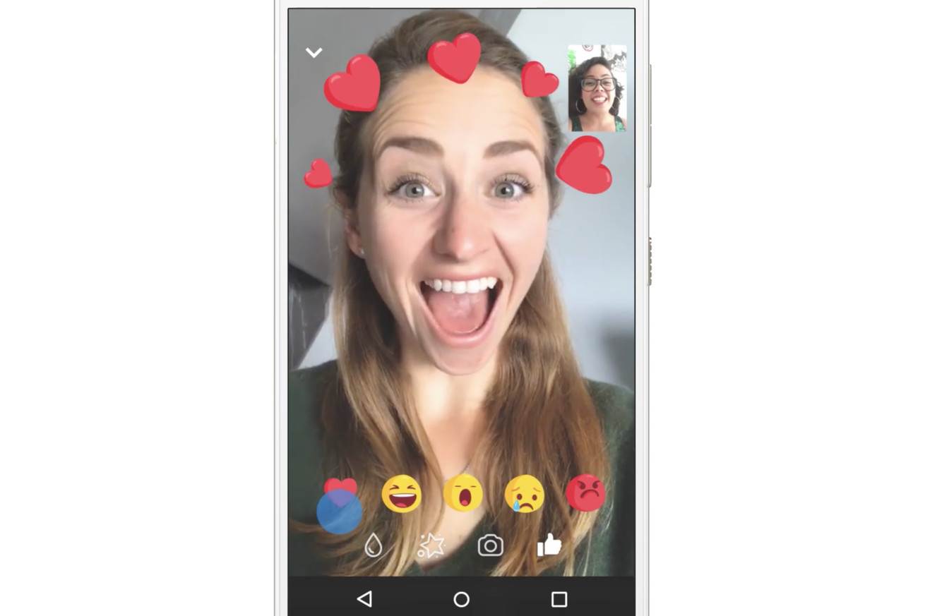 facebook adds animated reactions and filters to messenger video chats
