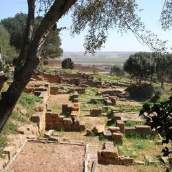 This March 10, 2012 photo shows the artisans' quarter in the Roman ruins of Sala Colonia outside the Moroccan capital of Rabat.