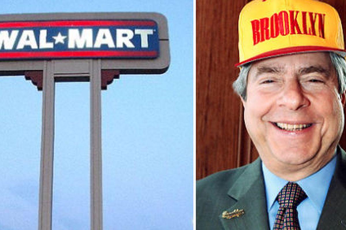 "Walmart image via <a href=""http://www.crunchgear.com/tag/Wal-Mart/page/2/"">CrunchGear</a>, Marty Markowitz image via <a href=""http://articles.nydailynews.com/2008-07-21/local/17901012_1_fund-raising-marty-markowitz-political-consultant-hank-sheinkop"