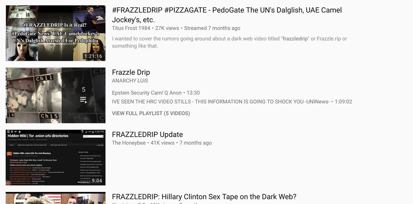 Frazzledrip and YouTube's conspiracy crisis, explained - Vox